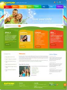 education template land children education center joomla template on behance