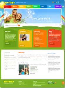 Joomla Education Templates by Land Children Education Center Joomla Template On Behance