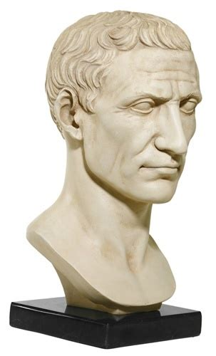 Ornaments For Home Decor by Julius Caesar Bust On Marble Base Vatican Museum Shop