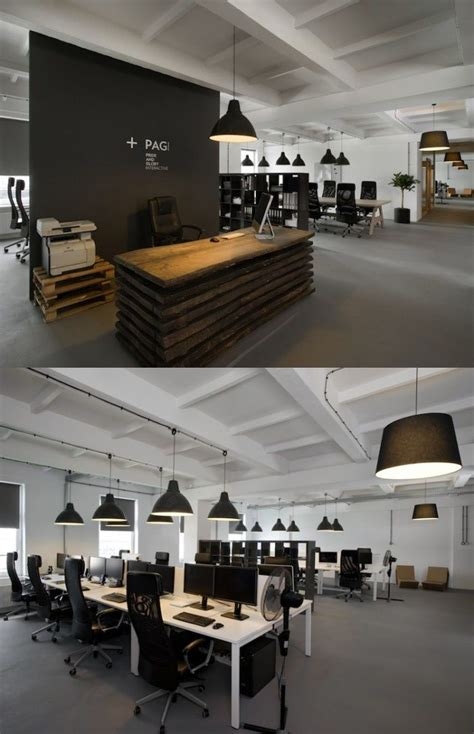 Open Plan Office Desks It S Awesome Open Plan Office Coordinated With Real Wood Reception Desk Openplanoffice