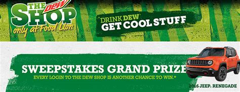 Food Lion Sweepstakes - food lion mountain dew the dew shop 2016 sweepstakes sweepstakesdaily com