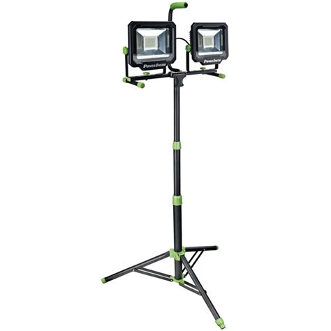 Work Light Tripod by Led Work Light Powersmith 100w 10000 Lumen Dual Led