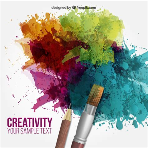 free painting for 2 creativity background vector free
