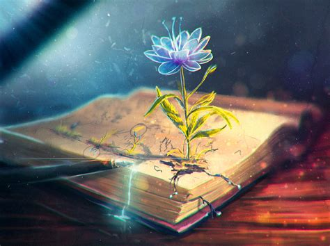 magic painting free magic flower in blooming at book photoshop digital