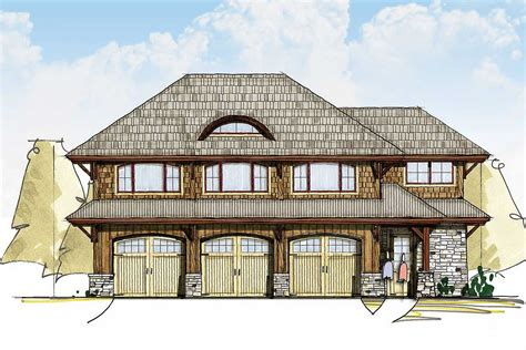 Two Bedroom Carriage House Plan   18843CK   Architectural