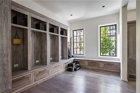 rustic mudroom lockers country laundry room