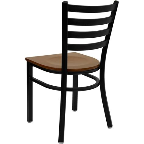 Ladder Back Seat Chairs by Hercules Black Ladder Back Metal Restaurant Chair With