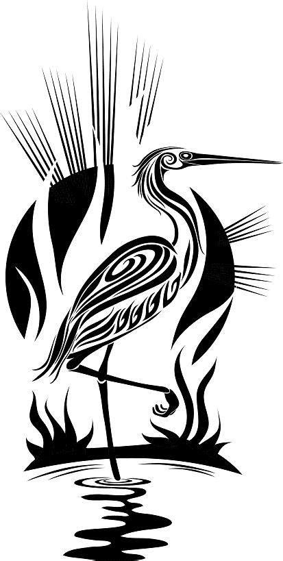 stork tattoos designs tribal tattoos stork tribal bird design stork