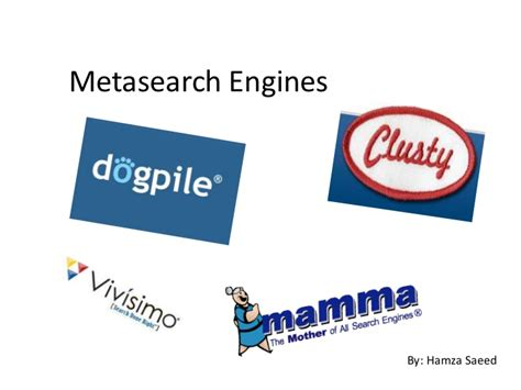 Meta Search Engines Metasearch Engines
