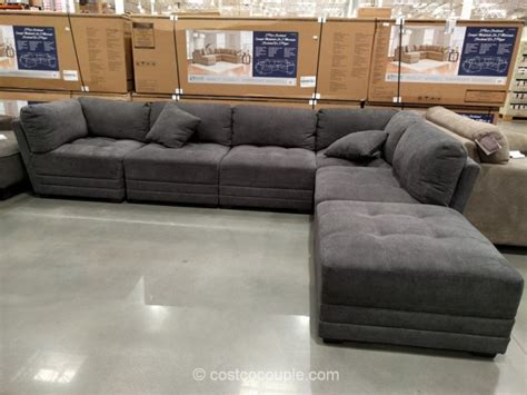 costco couches in store 6 piece modular fabric sectional