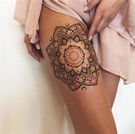 thigh mandla henna tattoo divine henna pinterest 25 best ideas about mandala thigh tattoo on pinterest