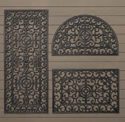 Large Exterior Door Mats Fleur De Lys Rubber Doormat Traditional Doormats By