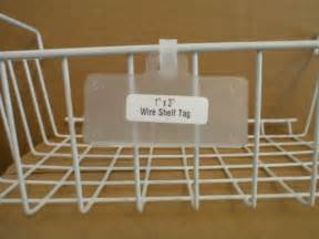 Wire Rack Label Holder by Wire Rack Shelf Tags Display Label Holder Pkg Of 25