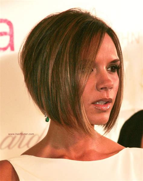 hairstyles that are longer in the front victoria beckham hairstyles front back view hair