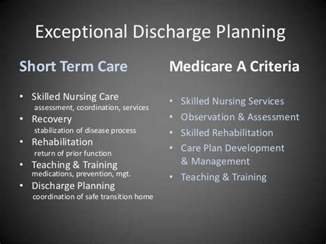 exceptional snf discharge planning