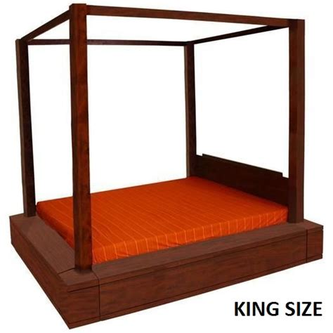 4 Post King Bed Frame Amsterdam King 4 Poster Sunken Bed Frame Mahogany Buy King Size Bed Frame