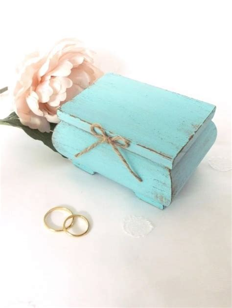 wedding ring bearer pillow box light blue ring bearer box