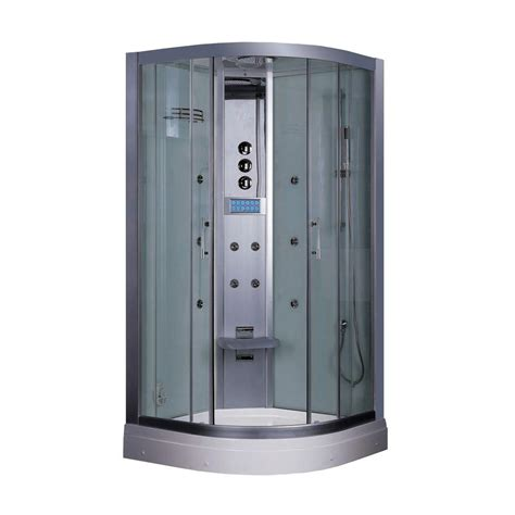 home depot steam shower aston zaa210 68 in x 41 in x 86 in steam shower left