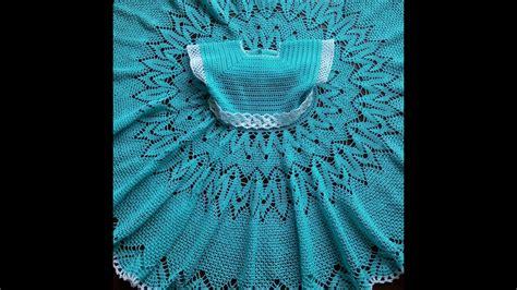 vestido de abanicos para ni 241 a parte 2 la falda vestidos blancos tejidos a crochet ganchillo youtube