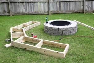 Outdoor Fire Pit Seating - build your own curved fire pit bench a beautiful mess