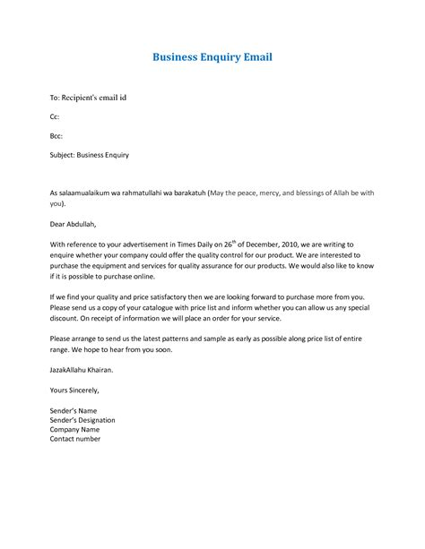 Business Letter Template For Email best photos of sle email letter format formal