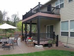 Backyard Sustainability Two Level Timbertech With Dryspace Abany Tnt Builders