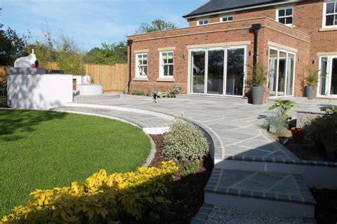multi level linear garden hertfordshire designed by kate patio designs hertfordshire multi level linear