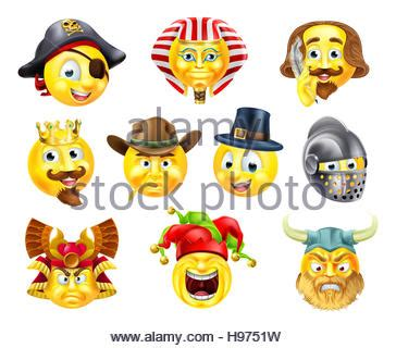 a pirate emoji emoticon smiley face character wearing a