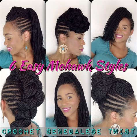 senegal twist braids mohawk 6 easy mohawk styles senegalese twist tia s natural