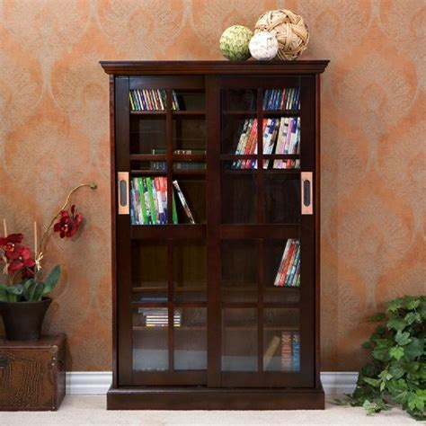 sliding door media cabinet sliding door media cabinet espresso 49 quot aiden target