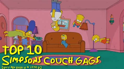 simpsons sofa top 10 simpsons couch gags you probably missed youtube