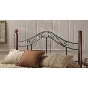 wood iron headboard