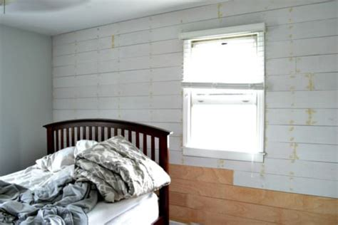 How To Put Shiplap On Walls Installing A Shiplap Plank Wall On A Budget Orc Week 3