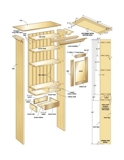 woodwork cabinet plans bathroom  plans