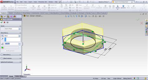 solidworks tutorial nut tutorial creating hex nut in solidworks grabcad