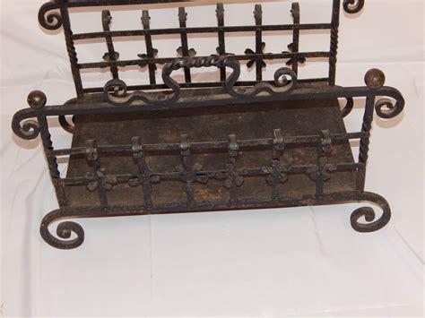 antique wrought iron log holder at 1stdibs