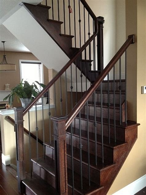 banister iron works oak staircase with wrought iron pickets oak staircase with