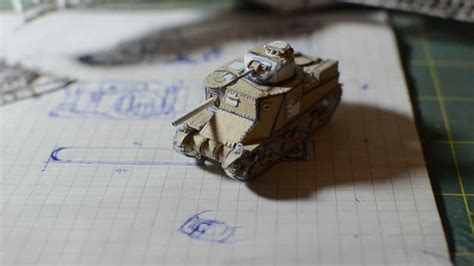 How To Make A Tank Out Of Paper - m3 paper tank model