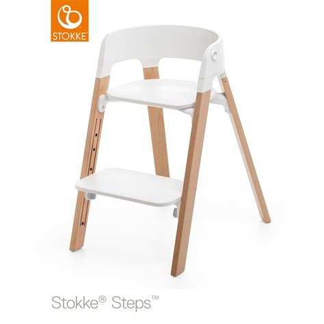 chaise steps stokke steps assise chaise blanc de stokke 174 chaises hautes