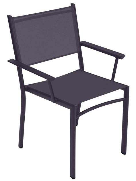 stackable armchairs costa stackable armchair fabric plum by fermob