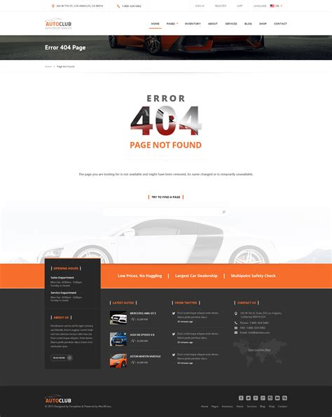 beamer themes not found auto club car dealer theme by templines themeforest