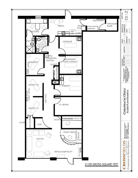 layout of back office chiropractic office floor plans