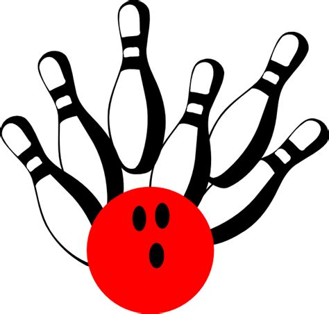 bowling clipart bowling pinred clip at clker vector clip