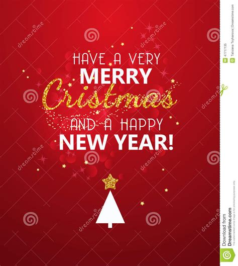 merry christmas glitter message  red shining background  year poster stock vector image