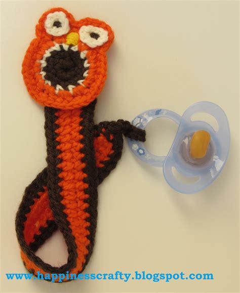 free crochet pattern pacifier holder happiness crafty owl pacifier holder free crochet pattern