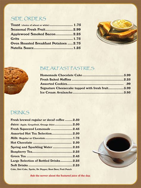English Breakfast Menu Ideas Printables And Menu Breakfast Menu Template Free