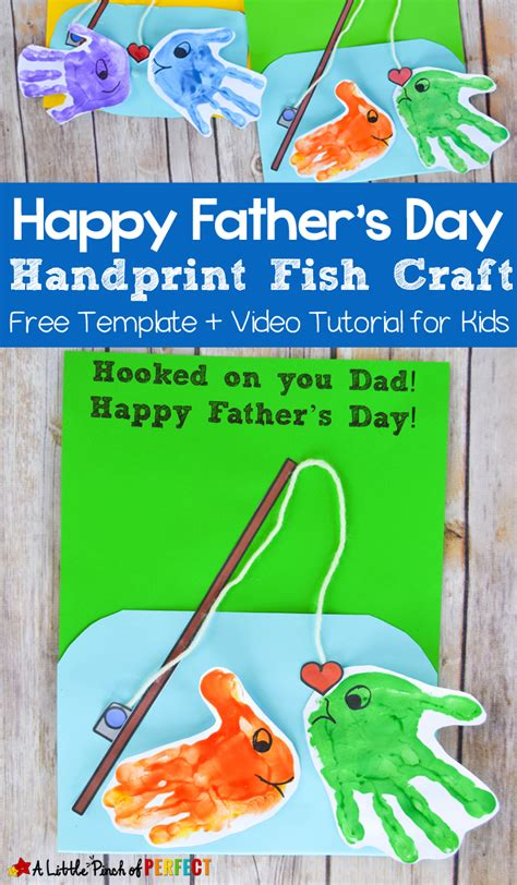 S Day Card Template Fishes happy s day handprint fish craft and free template
