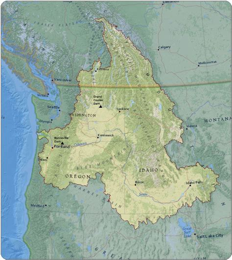 columbia river map about the columbia river columbia river us epa