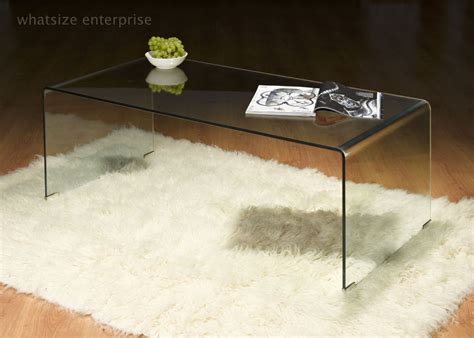 Curved Glass Coffee Table Bent Glass Coffee Table Clear