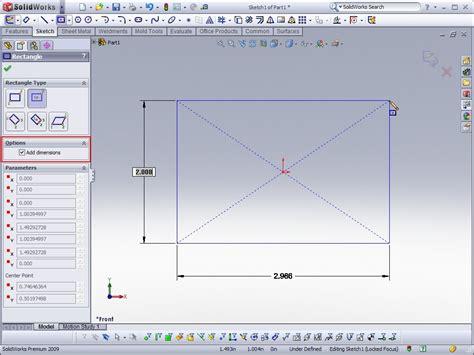 sketchbook guide solidworks tip 2009 numeric sketch input ricky